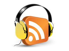 Podcasting Logo (RSS Icon w/ Headphones)